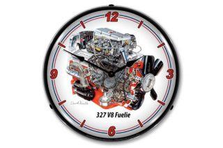 David Kimble 327 Fuelie Engine Lighted Wall Clock