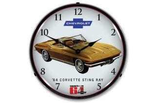 64 Corvette Sting Ray Wall Clock
