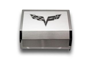 05-13 Deluxe Stainless Fuse Box Cover w/ C6 Emblem