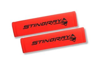 Corvette Seat Belt Pads w/Stingray Emblem
