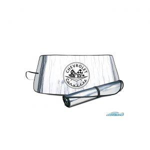 53-62 Windshield Roll-Up Sun Shield w/Emblem