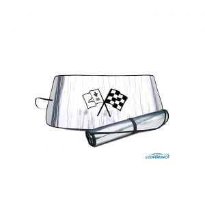 63-67 Windshield Roll-Up Sun Shield w/Emblem