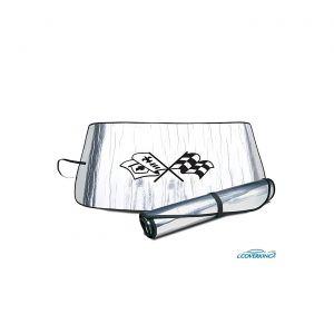 68-82 Windshield Roll-Up Sun Shield w/Emblem