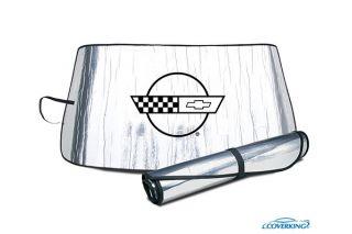 84-96 Windshield Roll-Up Sun Shield w/Emblem
