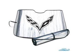 14-19 Windshield Roll-Up Sun Shield w/Emblem