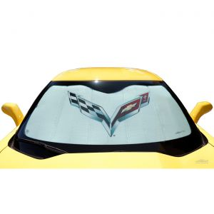 14-19 Coverking Moda Windshield Accordion Sunshield w/Emblem