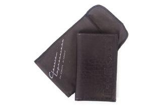 Italian Leather Executive Checkbook/Wallet