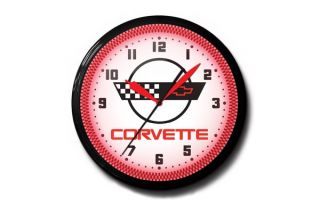 C4 Corvette 20in Neon Clock