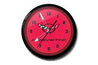 C5 Corvette Red 20in Neon Clock