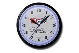 Corvette Stingray 20in Neon Clock