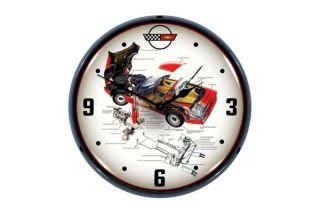 C4 Corvette Tech Lighted Wall Clock