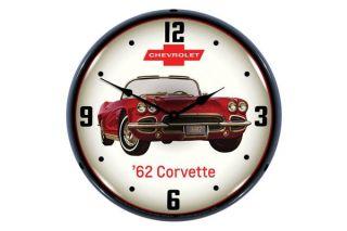 1962 Corvette Lighted Wall Clock