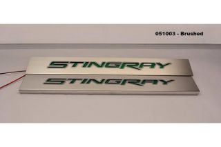 14-19 Brushed Stainless Stingray Door Sills (Illuminated)