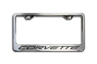 97-04 Stainless Rear License Plate Frame w/Corvette Script