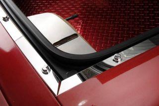 98-04 Conv & FRC Stainless Rear Hatch Trim Plates w/Caps & Screws