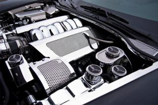 08-13 LS3 w/Dry Sump Perforated Stainless Fuel Rail Cover