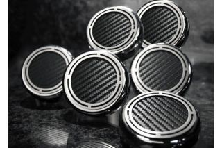 97-13 Manual Slotted Carbon Fiber Engine Cap Cover Set (6pc)