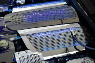 05-07 LS2 Perforated Stainless Fuel Rail Cover (Illuminated)