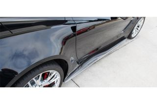 15-19 Z06/GS Stainless Side Skirt Extensions w/Inlaid Supercharged