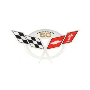 03 50th Anniversary Pillar Domed Emblem (5.5in x 2.5in)