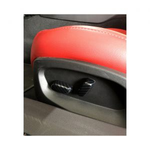 14-19 Carbon Fiber Look Power Seat Button Overlays