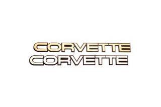 1984-1990 Corvette Economy Rear Emblem - Gold