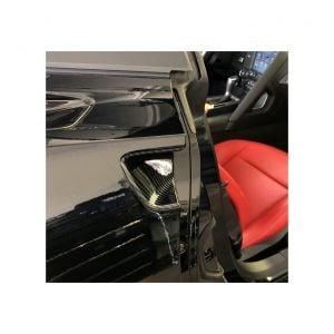 14-19 Carbon Fiber Look Door Handle Recess Overlay