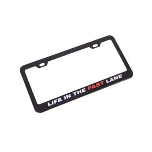 """""""Life in the Fast Lane"""" License Plate Frame"""