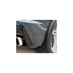 20-21 Rear Stainless Mud Guards w/Carbon Fiber Wrap (2pc)