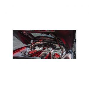 20-21 Polished Stainless Rear Window Frame w/Brushed Trim