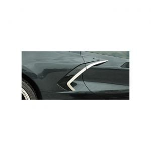 20-21 Side Fender Brushed Stainless Trim w/Chrome Molding