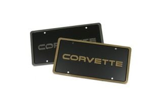 "1984-1996 ""Corvette"" License Plate w/Border"