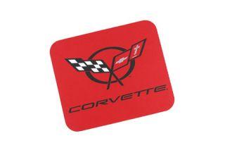Red Mouse Pad w/C5 Corvette Emblem