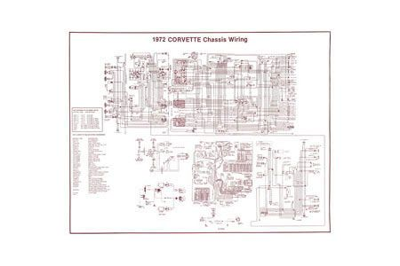 1972 corvette wiring diagram  zip corvette