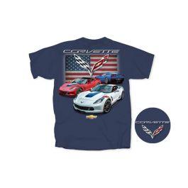 Corvette C7 Men/'s Stingray Black T-Shirt