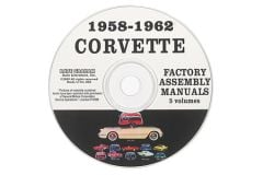 1958-1962 Corvette Assembly Manuals on CD