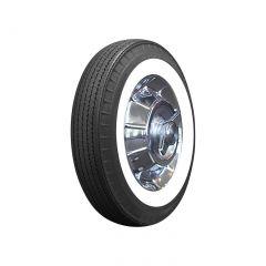 56-61 670R15 American Classic Bias Look Radial Tire - 2 3/4in Whitewall
