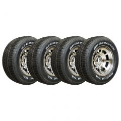 80-82 Aluminum Wheel Set & Tire Package (Select Tire Application)