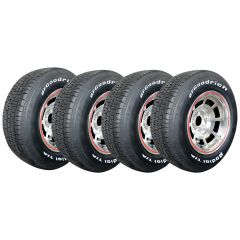 78 Pace Car Aluminum Wheel Set & Tire Package (Select Tire Applications)