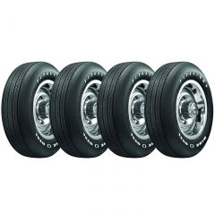 69-82 15x 8 Steel Rally Wheel & Tire Package (Select Tire Application)