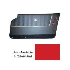 63-64 Conv Deluxe Leather Door Panels (Installed Trim)