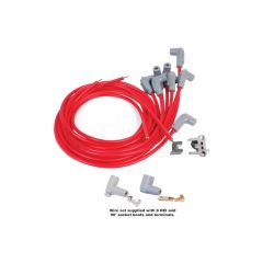 55-91 MSD Super Conductor Spark Wire Set (90° Plug Boot)