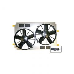 97-04 SPAL Dual 12in Electric Fan Cooling System Upgrade (Short Radiator)