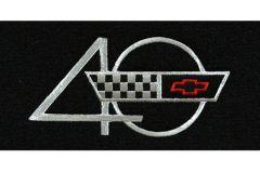 1993 Corvette Contoured Heavy Duty Floor Mats w/40th Emblem