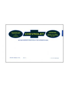 1963-1966E Corvette Owners Manual Bag