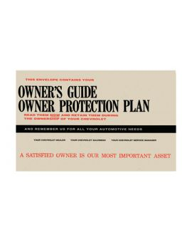 1958-1962 Corvette Owners Envelope