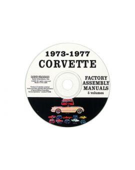 1973-1977 Corvette Assembly Manual on CD