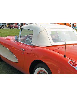 1961-1962 Corvette Convertible Top Assembly - White