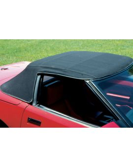 1986-1993 Corvette Convertible Top Canvas - Stayfast Cloth - Black