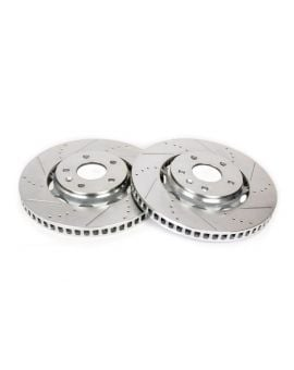 14-18 J55 (Z51) Power Stop Drilled & Slotted Front Rotors (OE Design)